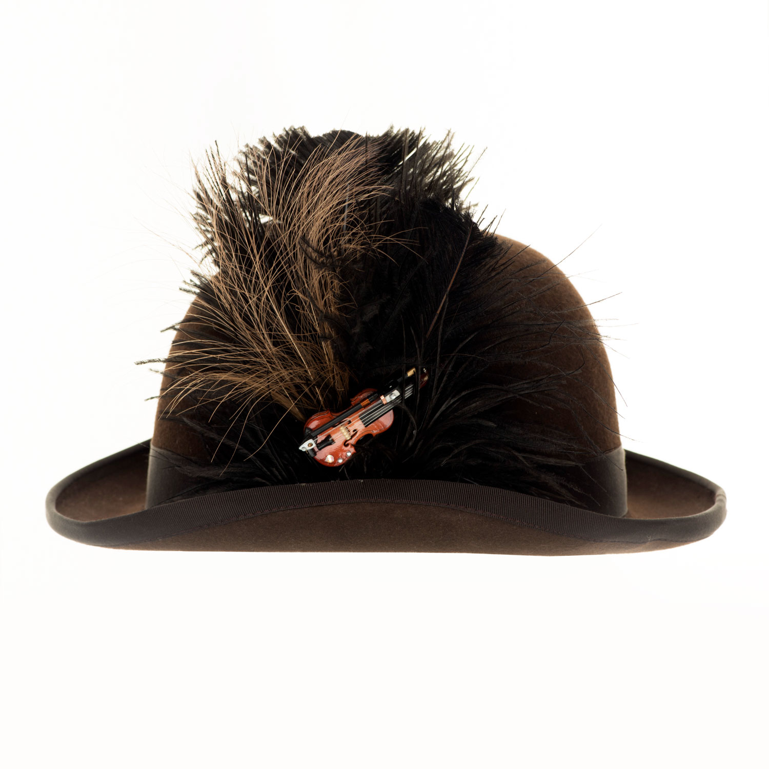 BEETHOVEN BOWLER HAT WITH VIOLIN